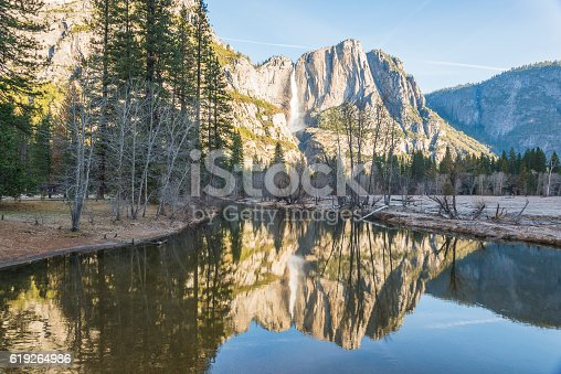 scenic view in Swinging bridge area in Yosemite National park,California,usa.