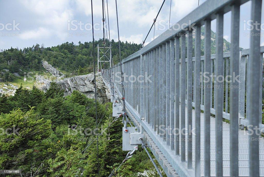 Swinging Bridge stock photo