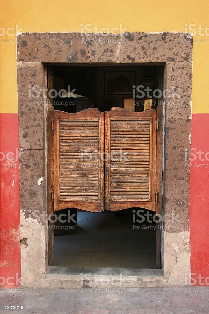 ... Swinging Doors stock photo ... & Bar Door Mexico Old Pictures Images and Stock Photos - iStock pezcame.com