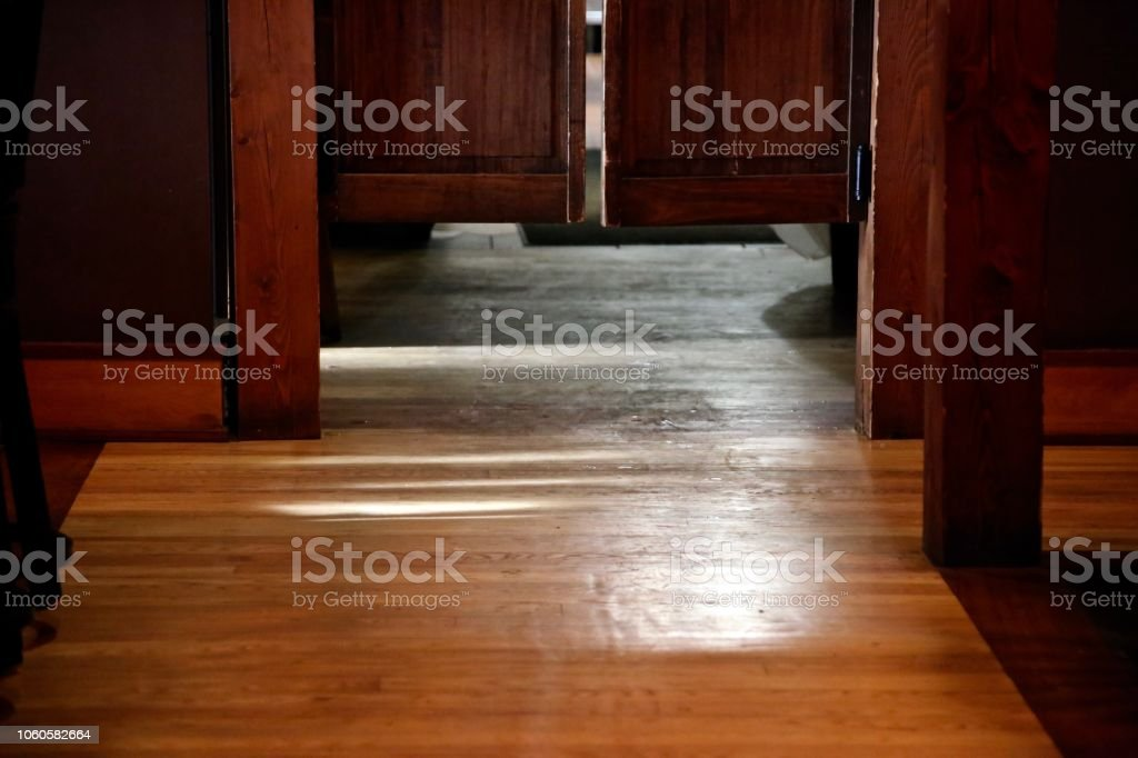Swinging Doors stock photo