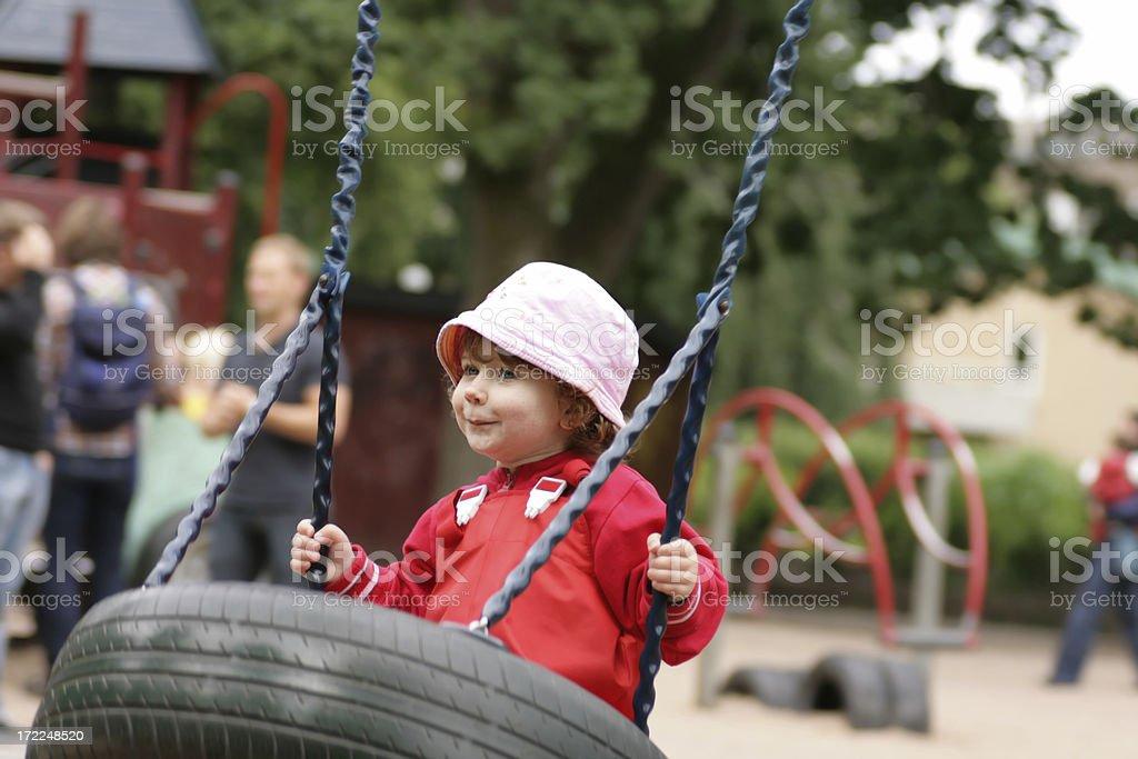 Swinging Girl royalty-free stock photo