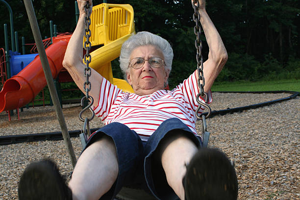 swinging grandmother 11 - crotchety stock pictures, royalty-free photos & images