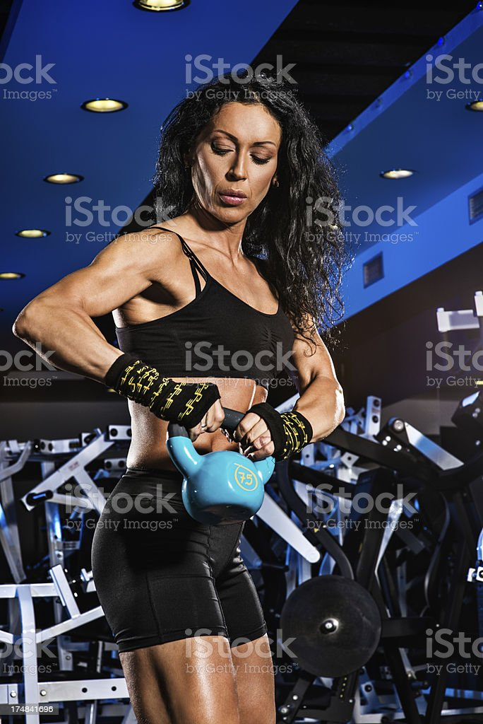 Swinging in the gym royalty-free stock photo