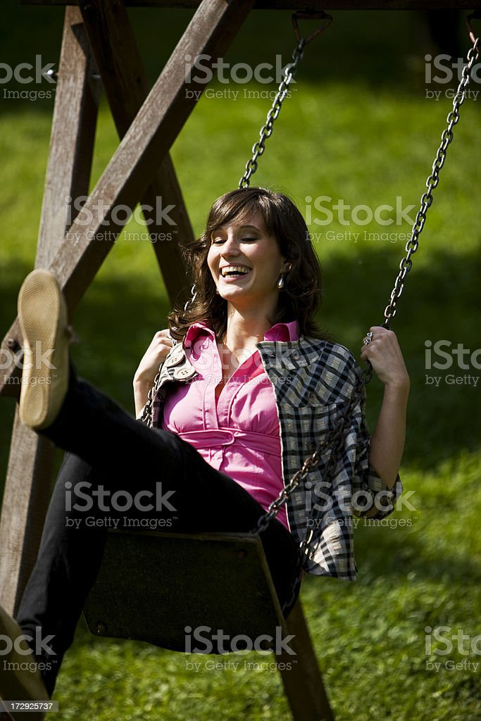 Swinging royalty-free stock photo