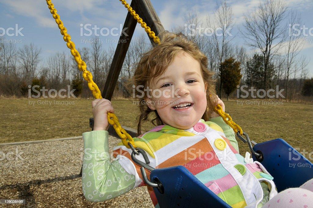 Swinging stock photo