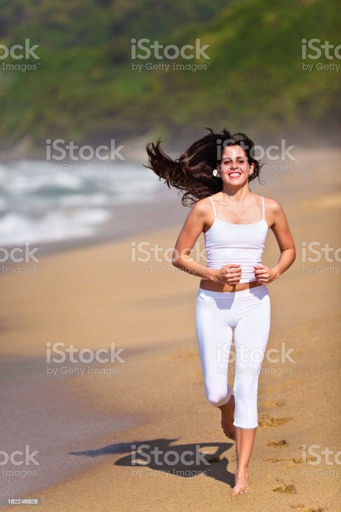 Swinging shinning long hair royalty-free stock photo