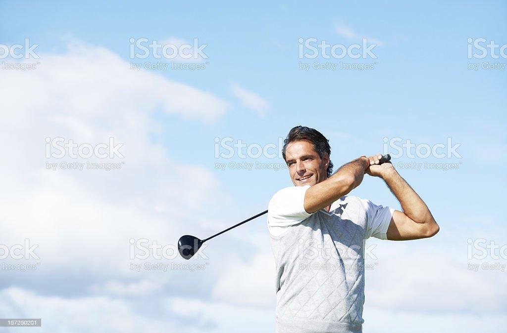 Swinging towards success stock photo