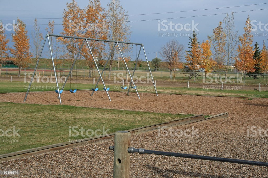 swings in fall royalty-free stock photo