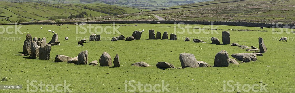 Swinside Stone Circle 2 royalty-free stock photo