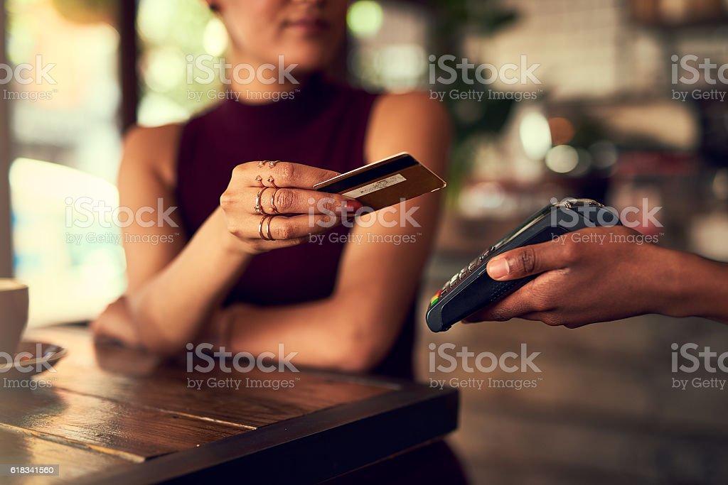 Swipe it off my cheque account stock photo