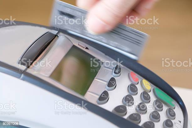 Swiping Credit Card Stock Photo - Download Image Now