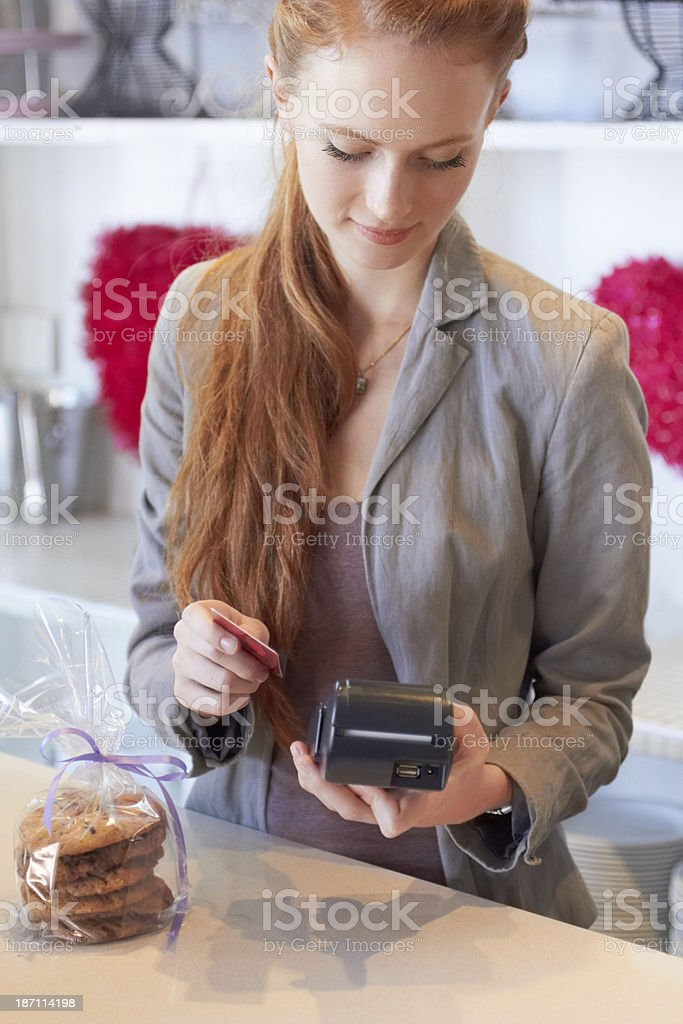 Swiping your card stock photo