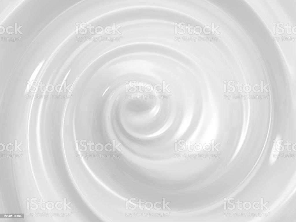 swirl cosmetic cream stock photo
