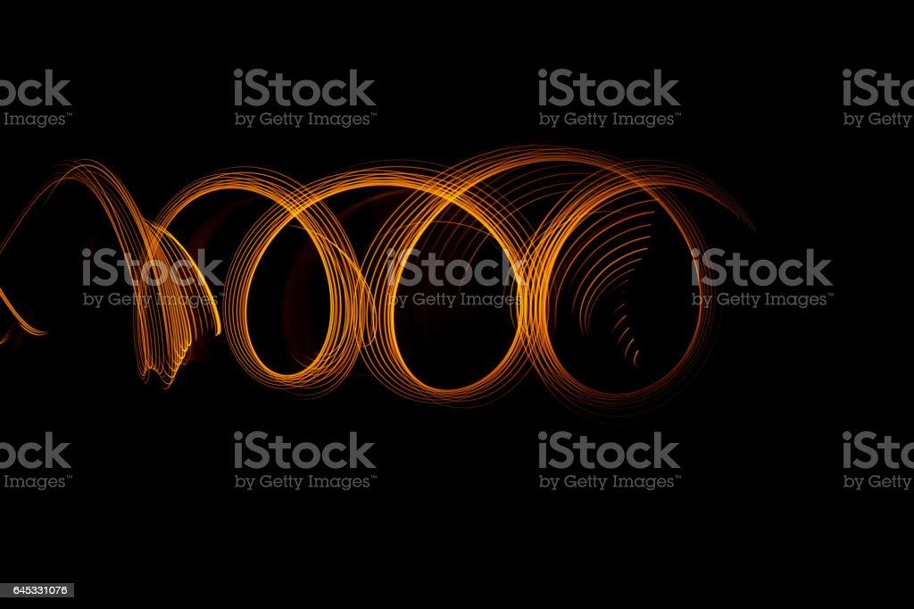 swirl light paint circles stock photo