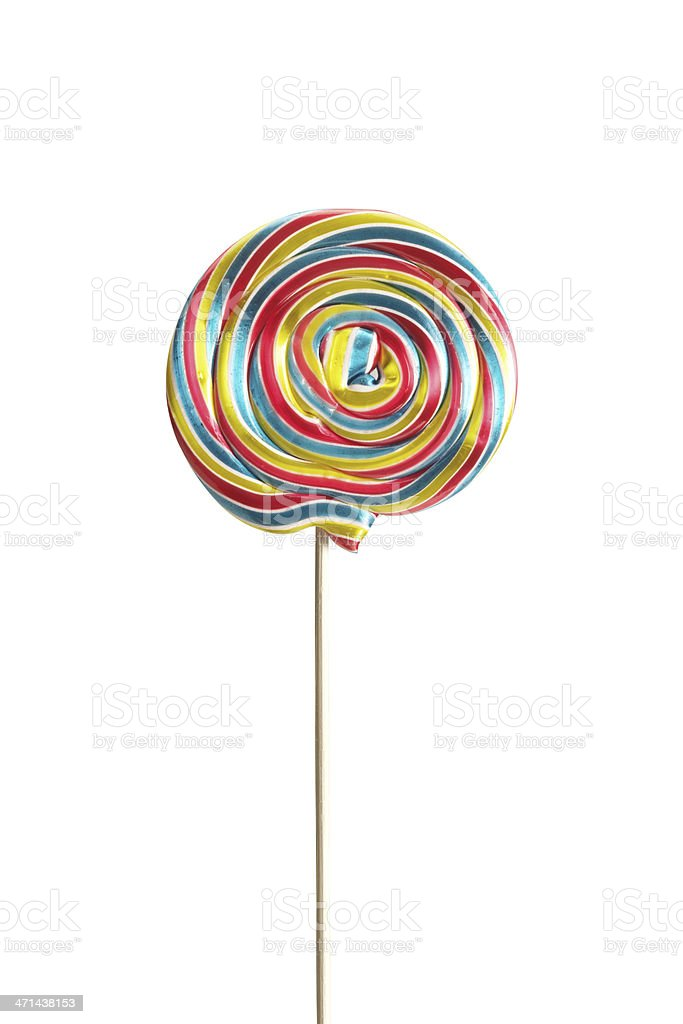 Swirl Lollipop+Clipping Path (Click for more) stock photo