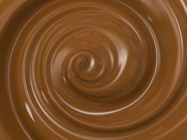 swirl melt chocolate - chocolate swirl stock photos and pictures