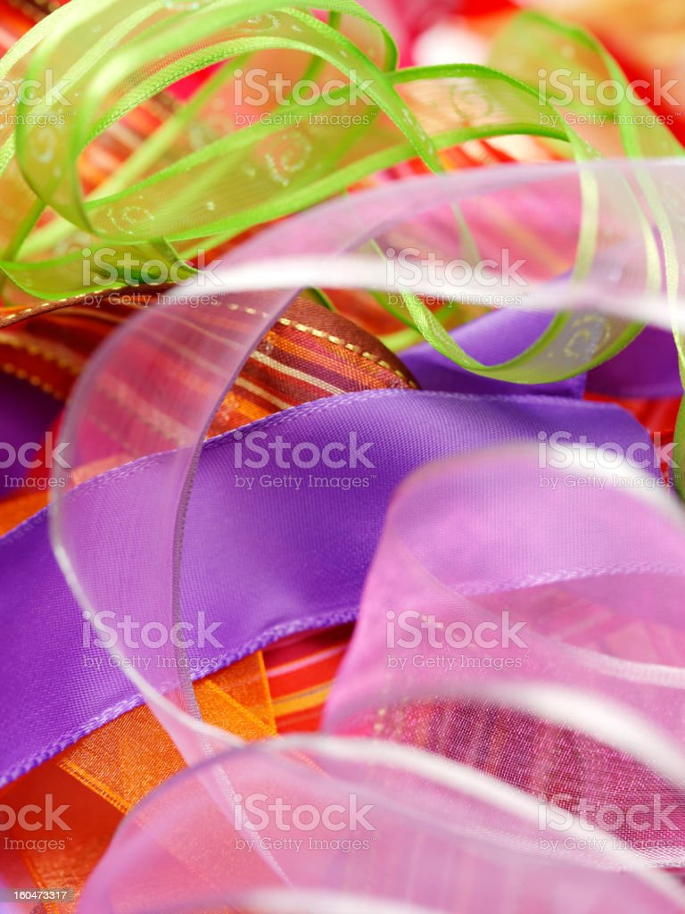 Swirl of Coloured Ribbon royalty-free stock photo