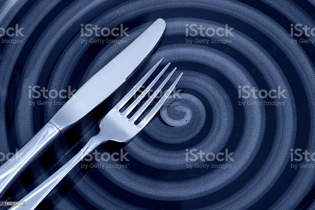 Swirl Plate royalty-free stock photo