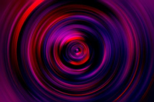 Colorful Holographic Circle Swirl Spiral Vortex Prism Neon Purple Violet Red Speed Laser Motion Pattern Background Retro Vaporwave Style Digitally Generated Image Distorted Fractal Fine Art