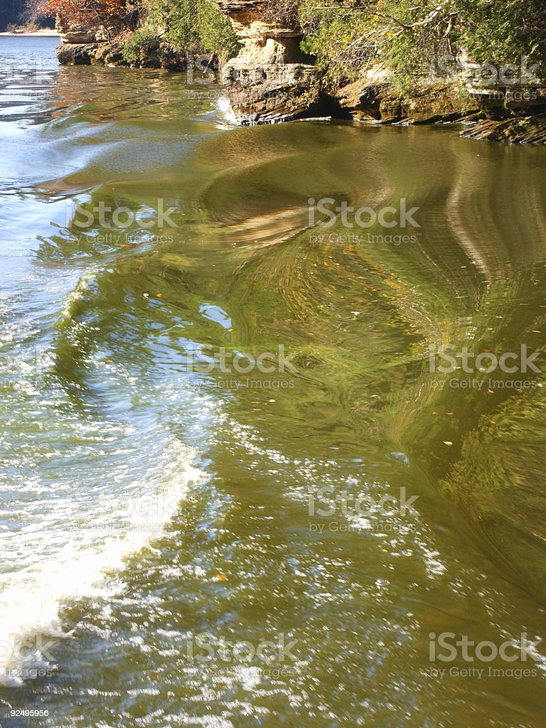 Swirling Waters royalty-free stock photo