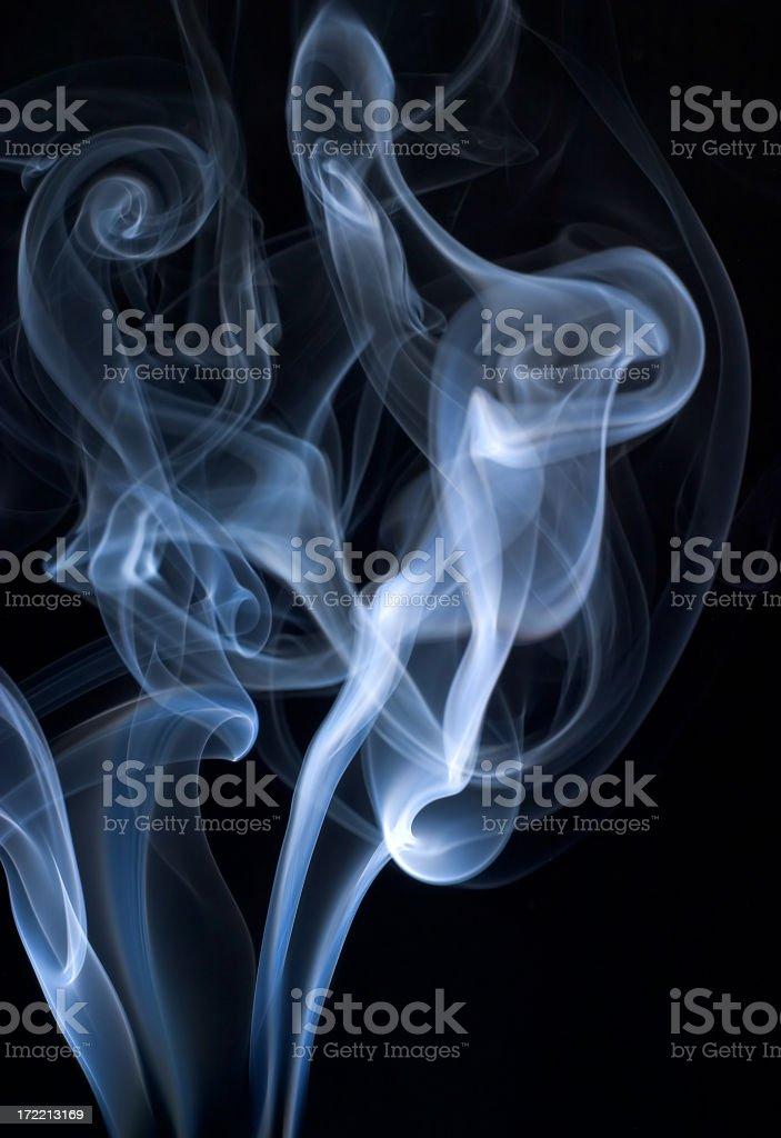 Swirls of blue smoke royalty-free stock photo