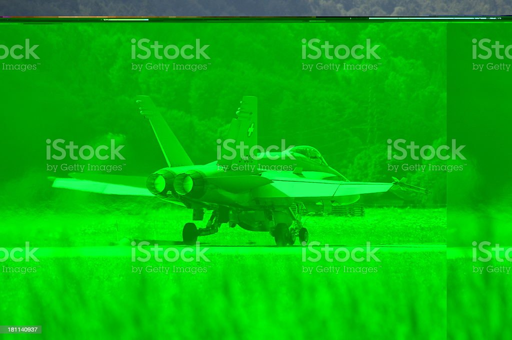 Swiss Airforce Fighterjet stock photo