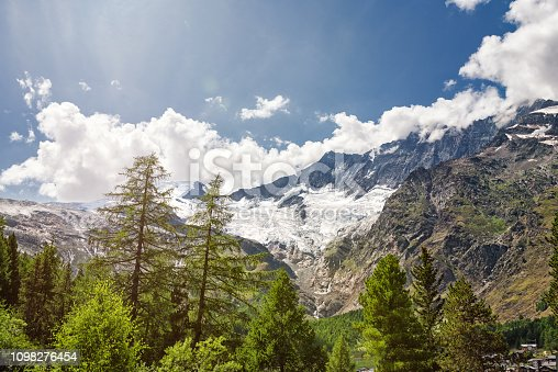 Saas Fee is located in Switzerland in the canton Valais. It is well known as winter tourist resort. But also in summertime you can explore the beauty in nature by hiking. The mountains here go up over 4000 meters over sea.