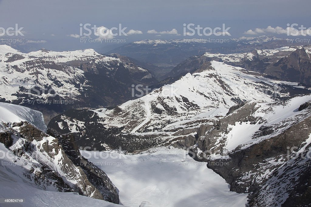 Swiss Alps and Glacier Switzerland royalty-free stock photo