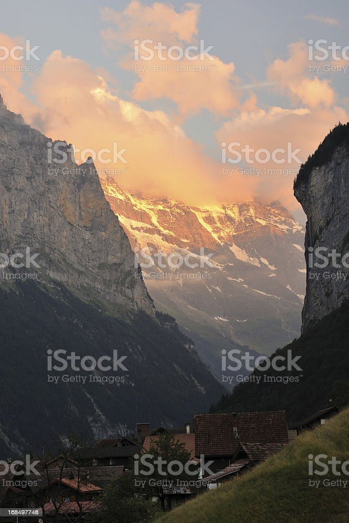 Swiss Alps at Sunset royalty-free stock photo