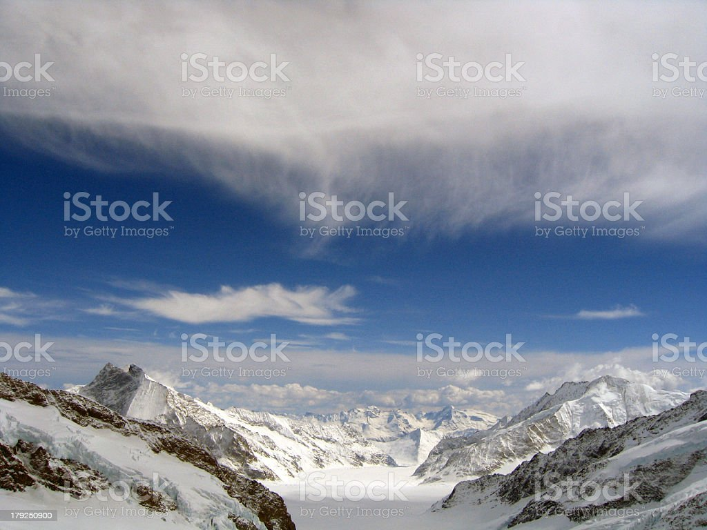 Swiss Alps Cloud royalty-free stock photo