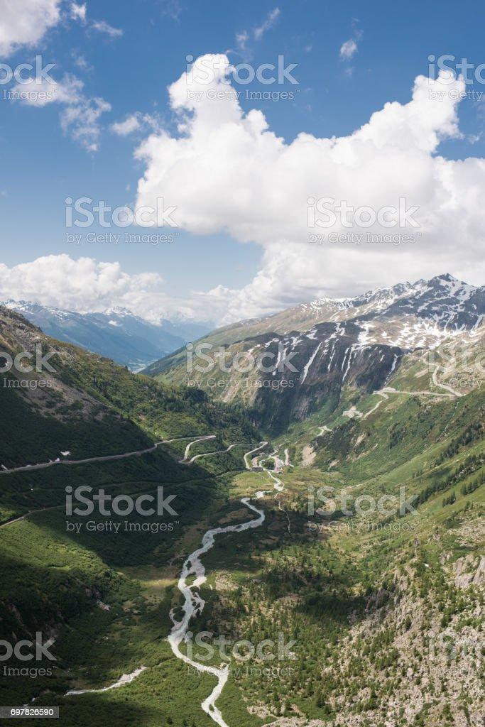 swiss alps june 2017 stock photo