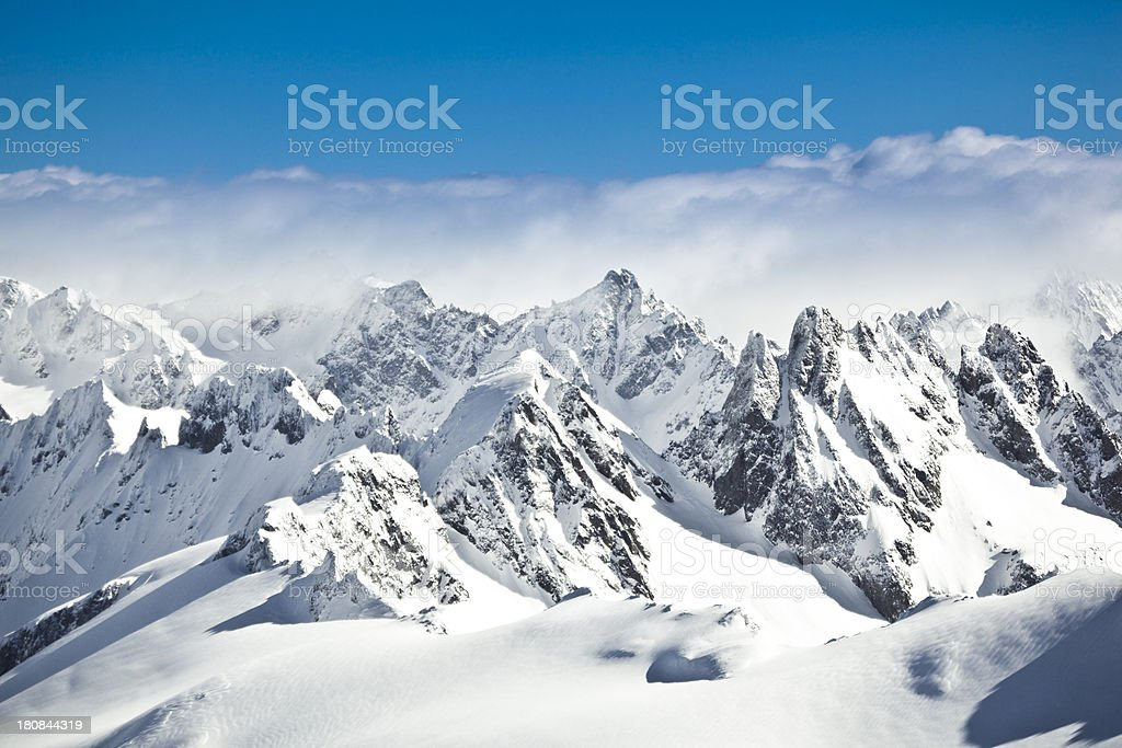 swiss alps stock photo