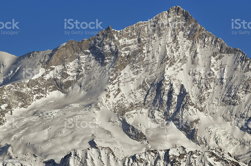 Swiss Alps. Summit of the Weisshorn royalty-free stock photo