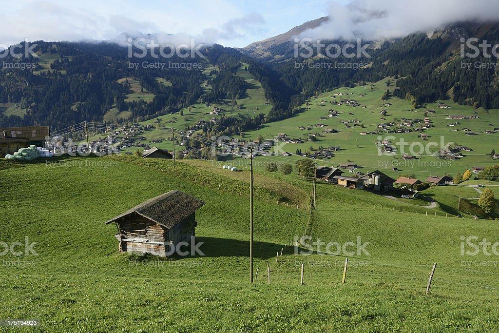 Swiss Alps Valley Lenk im Simmental royalty-free stock photo