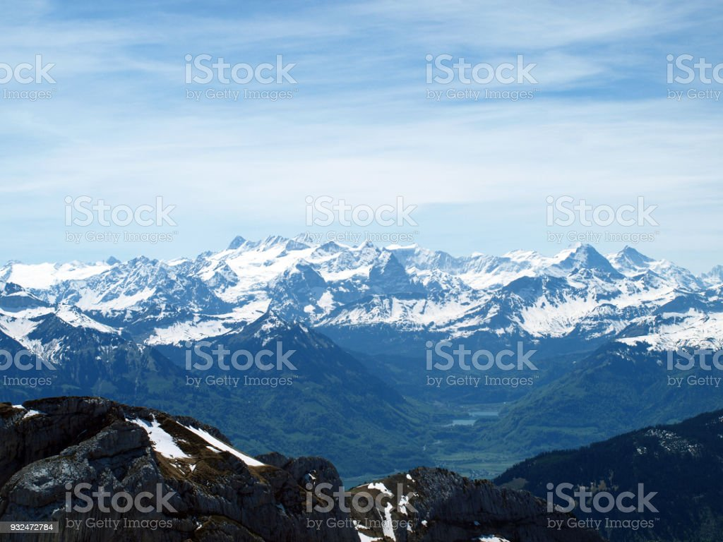 Swiss alps view from mountain Pilatus, Switzerland royalty-free stock photo