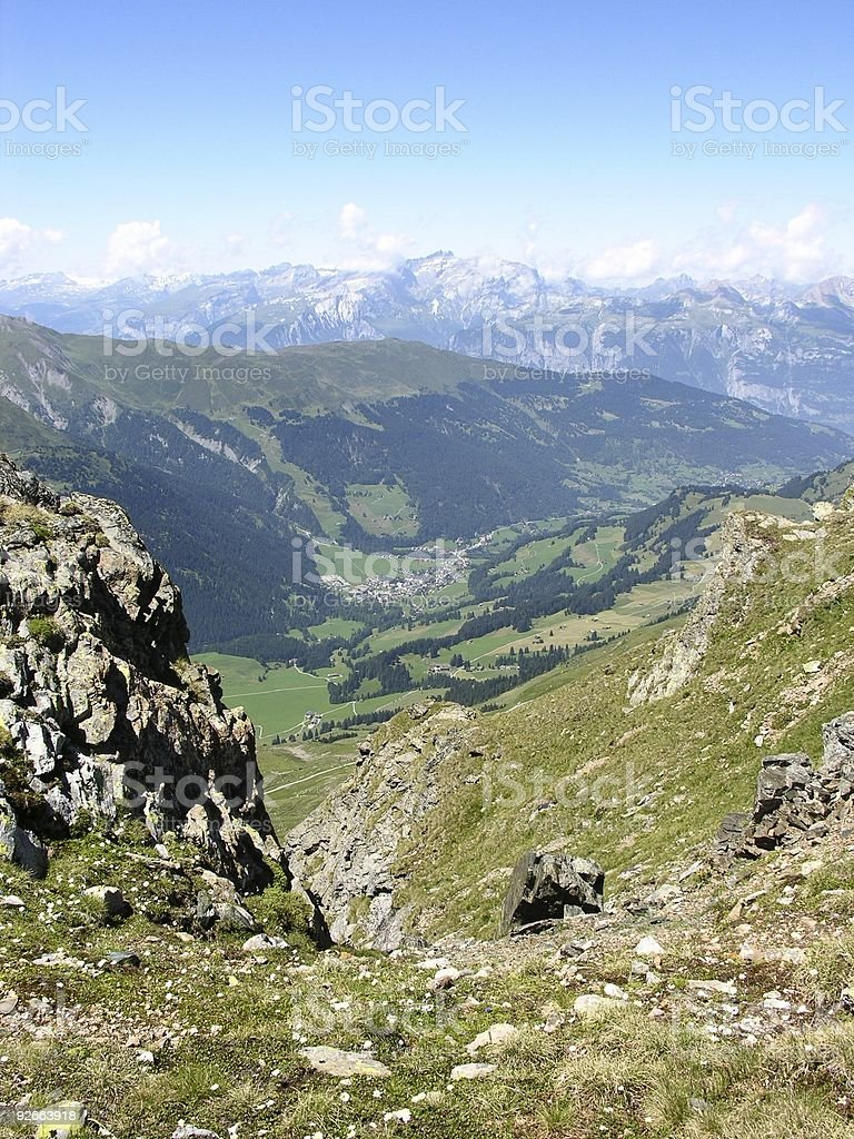 Swiss Alps View royalty-free stock photo