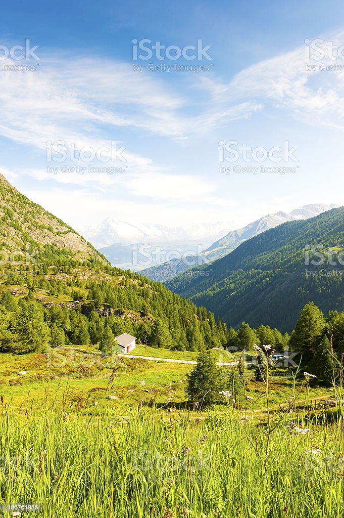 Swiss Alps viewed from the Simplon Pass royalty-free stock photo