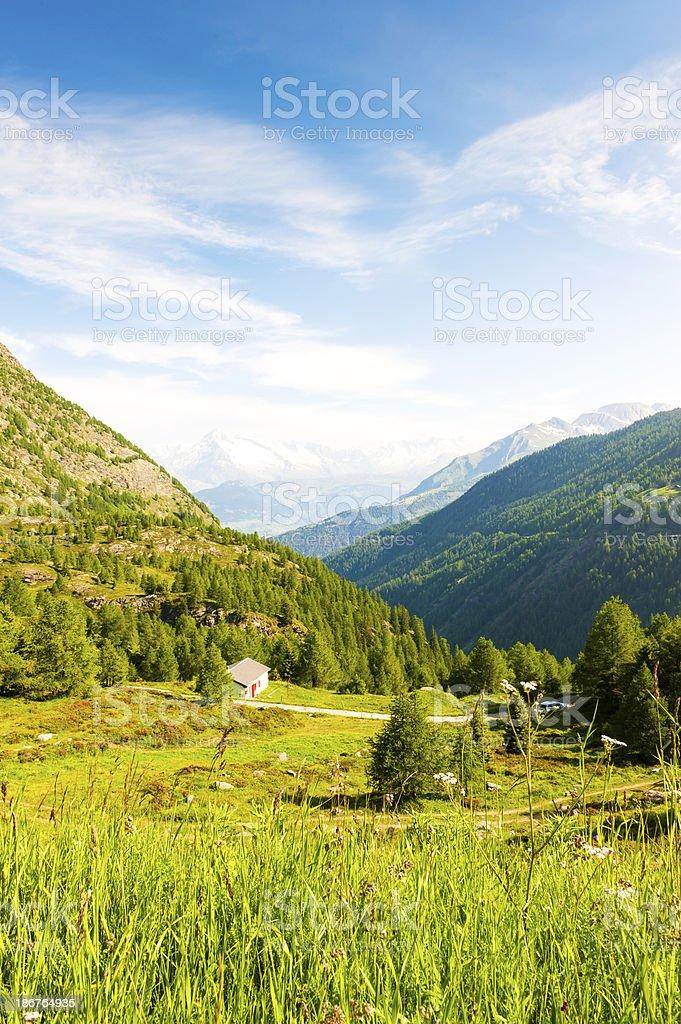 Swiss Alps viewed from the Simplon Pass stock photo