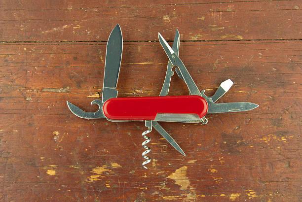 Swiss army knife stock photo