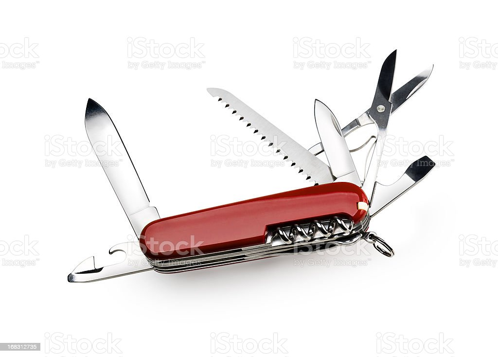 Swiss Army Knife with Clipping Path stock photo