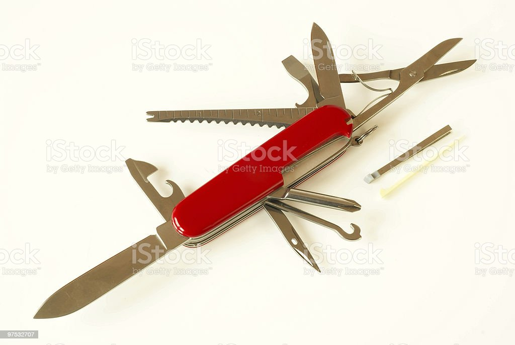Swiss army style knife royalty-free stock photo