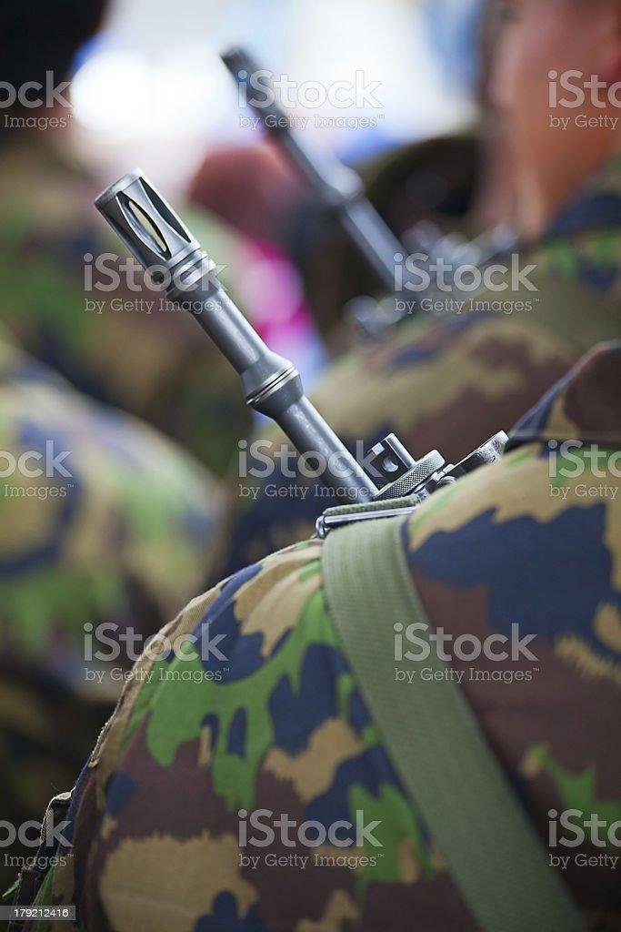 swiss army uniform royalty-free stock photo