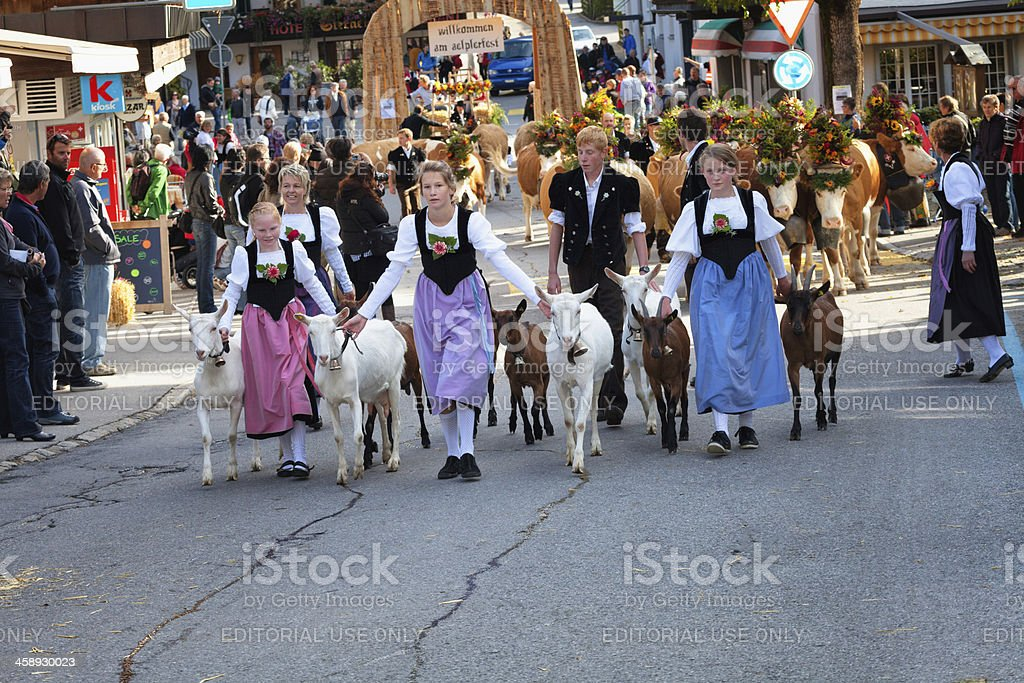 Swiss Autumn Harvest Festival, Traditional Costumes royalty-free stock photo