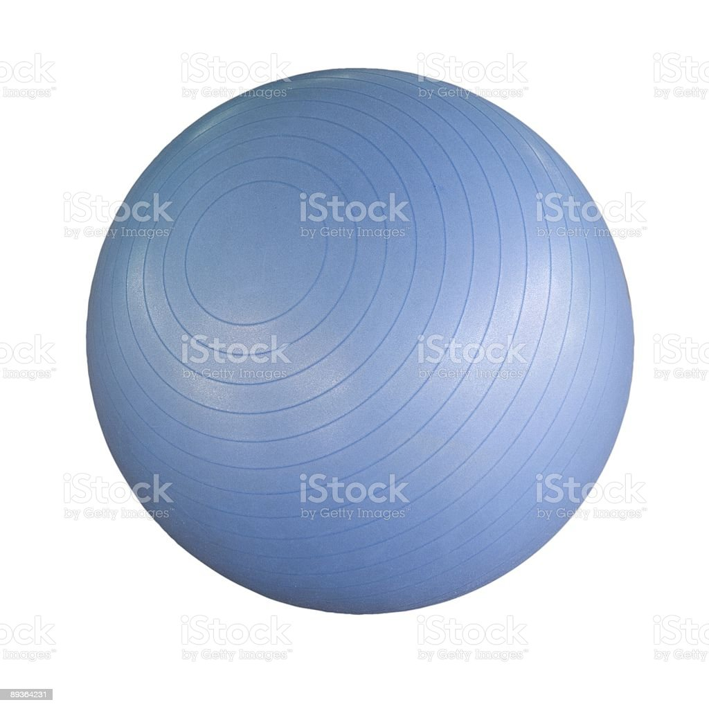 Swiss ball isolated stock photo