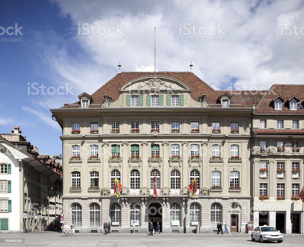 Swiss Bank in Switzerland's Capital Berne stock photo