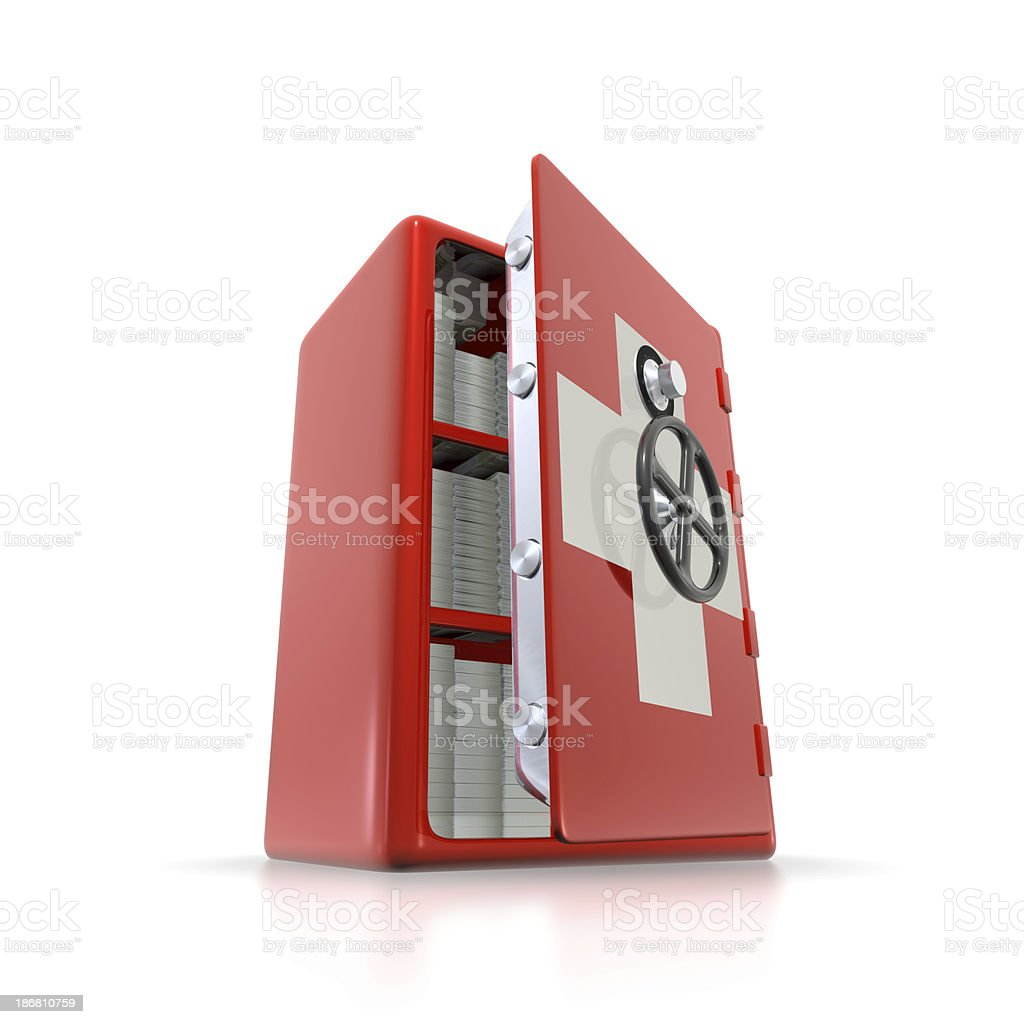 Swiss banking secrecy concept royalty-free stock photo