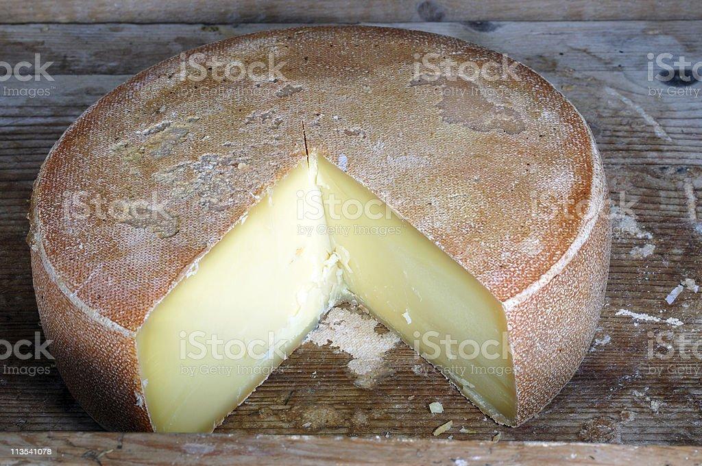 Swiss bio cheese stock photo