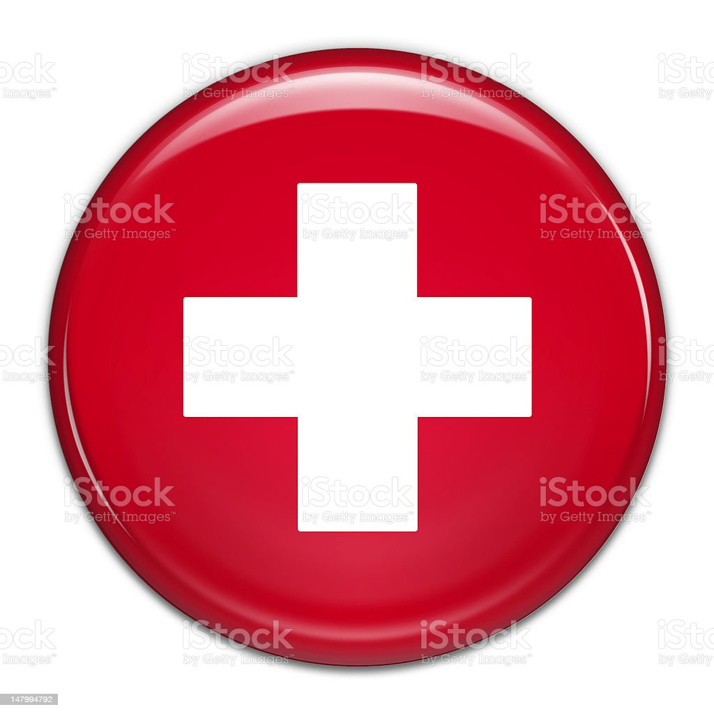 Swiss Button (with clipping path) stock photo