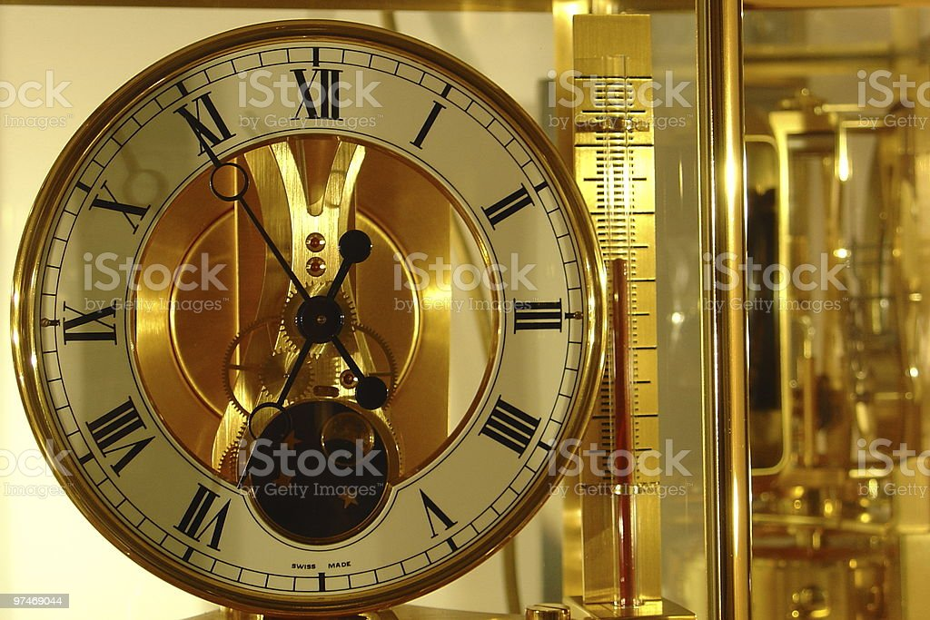 Swiss Clock royalty-free stock photo