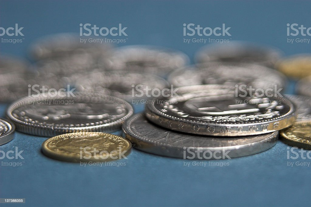 Swiss coins stock photo